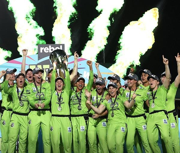 womens bbl  sydney thunders win the title for the second time