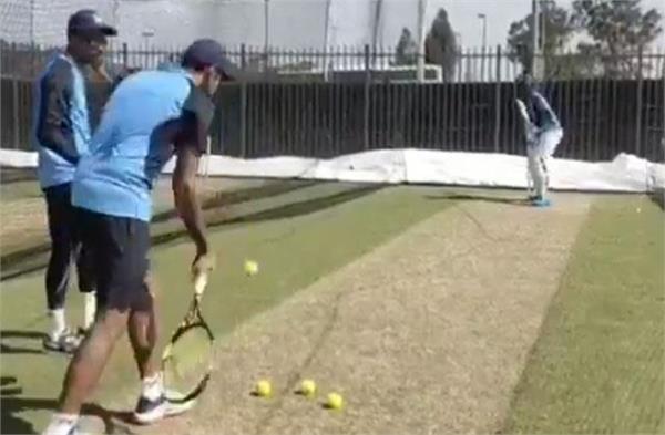 kl rahul starts training with tennis ball video