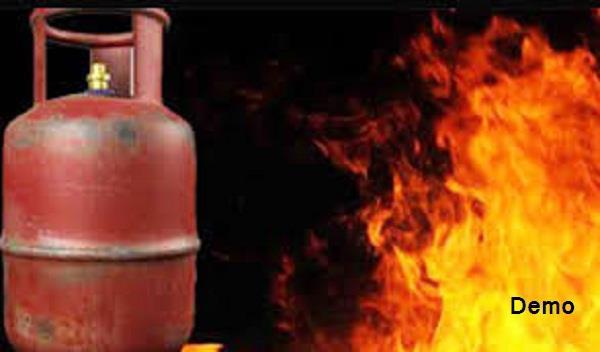 cylinder  fire  5 injured
