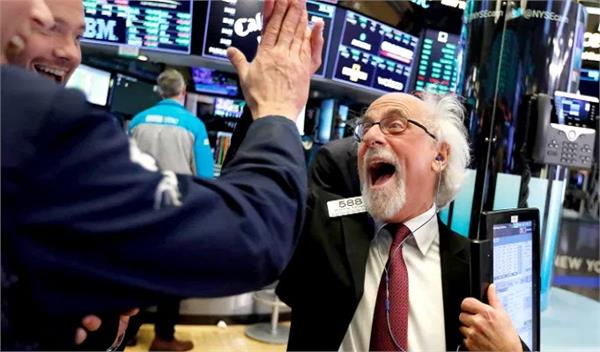 the dow jones record is high after the announcement of trump s handover