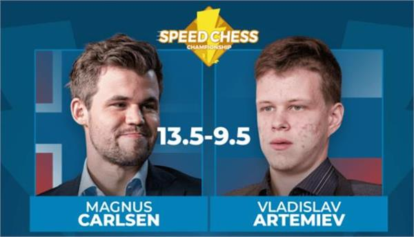 magnus carlsen in the semifinals of speed chess