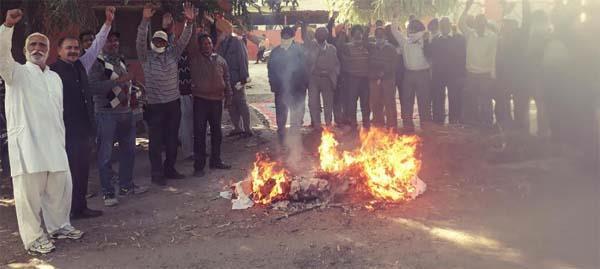 powercom  employees protest