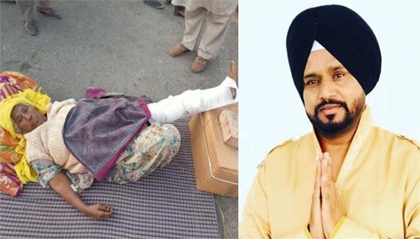farmer protest karamjit anmol post describing courage of injured bibi