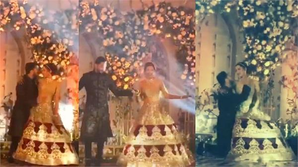 gauahar khan and zaid darbar reception party video viral