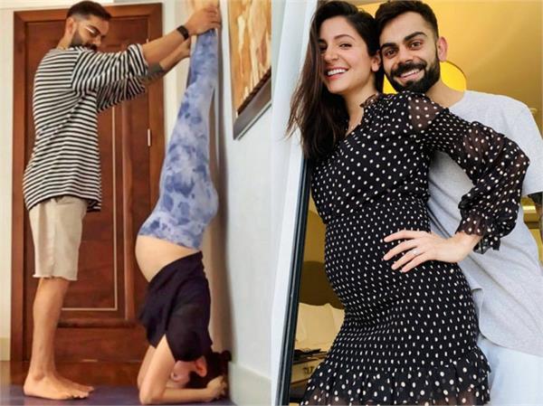 anushka sharma virat kohli yoga pictures