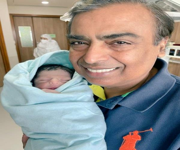 first picture of akash shloka s son came to light grandfather