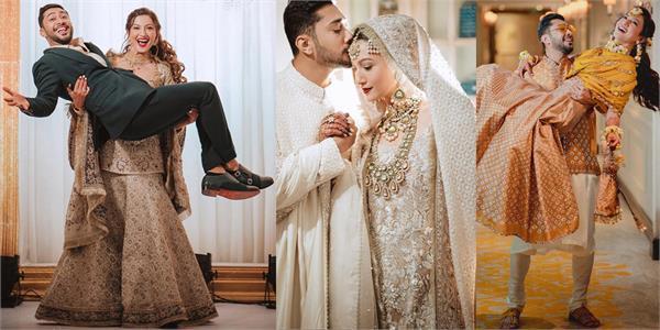 gauahar khan zaid darbar beautiful wedding pics