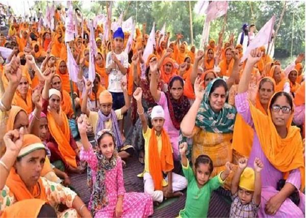farmers protest in delhi border
