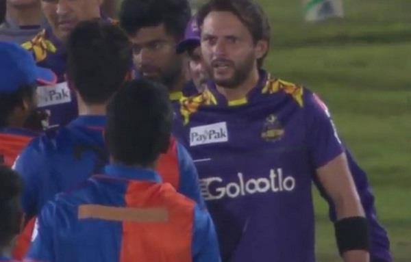 shahid afridi  abuse  afghan cricketer  response