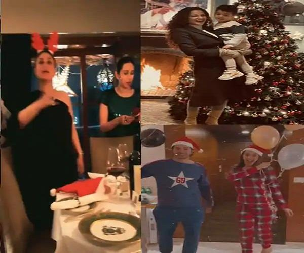movie stars immersed in christmas celebrations  see beautiful pictures