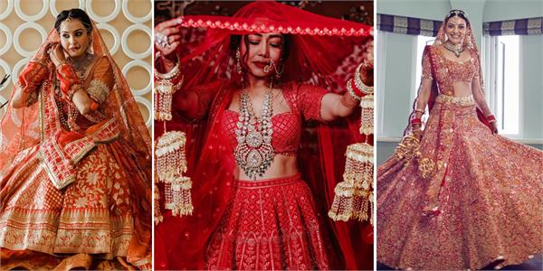 bollywood first choice for brides in red lehenga from celebrities
