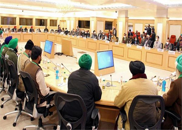 farmers protest  farm laws meeting in vigyan bhawan
