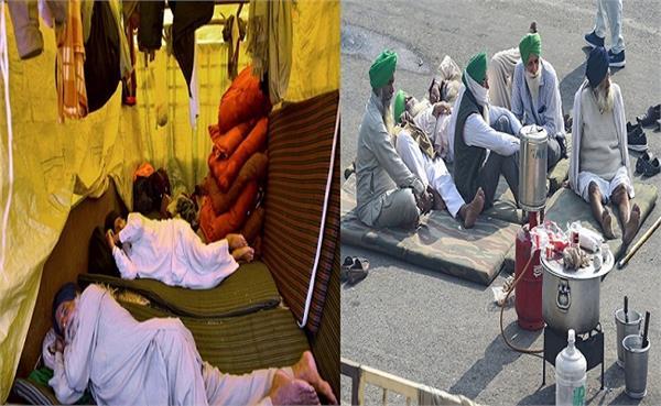farmers protest against farm laws at singh border in delhi