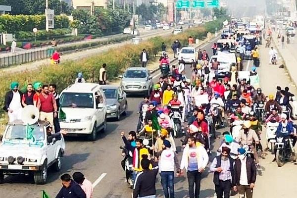 complete shutdown in zirakpur on call for india shutdown  protest march