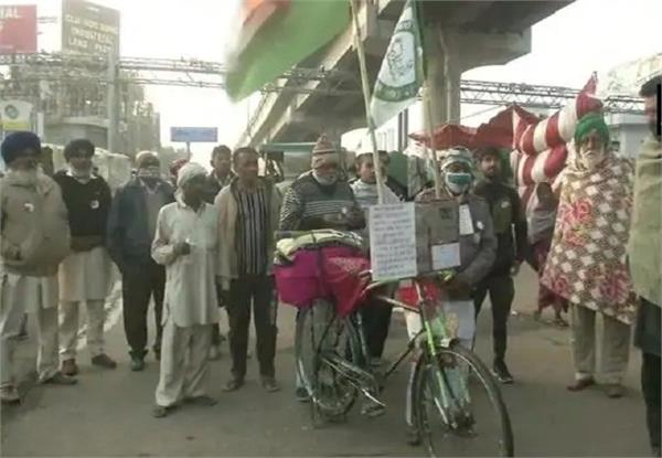 bihar farmer 1 000 km on cycle for 11 days to farmers protest in delhi