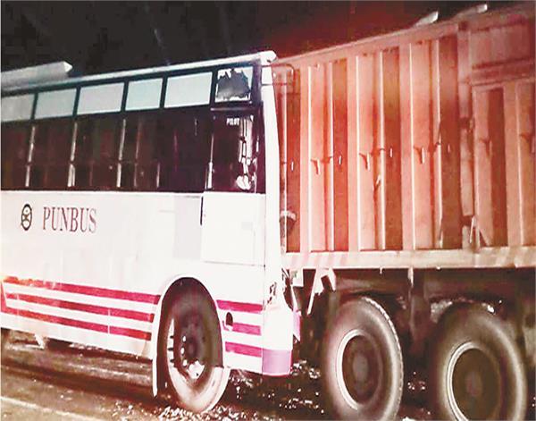 batala  bus  accident  10 injured