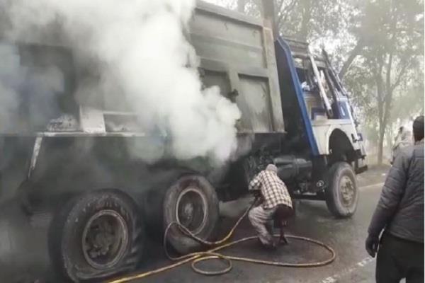 fire in trucks