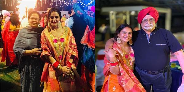 mona singh  s first lohri with husband shyam