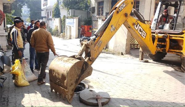 new jawahar nagar market  sewer connection