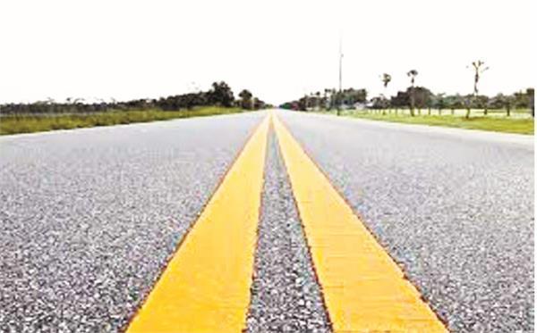 yellow white line  traffic police