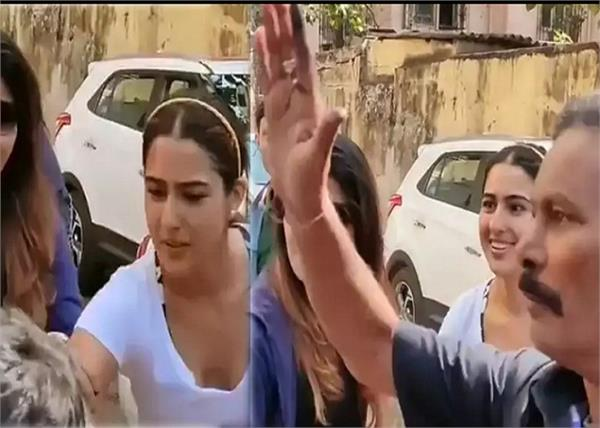 sara ali khan s security steps in as fan tries to kiss her hand
