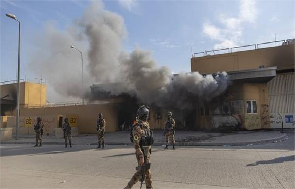 baghdad rocket attacks us embassy overnight injures 1