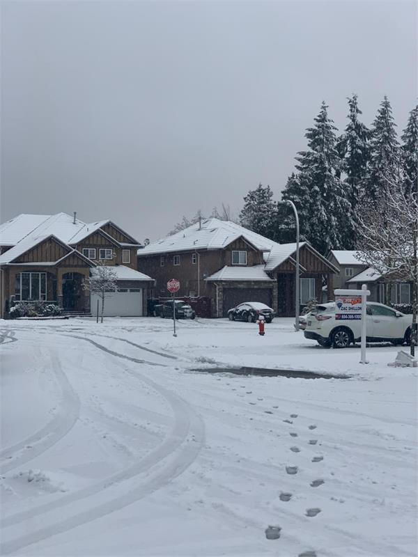 first snowfall in surrey vancouver