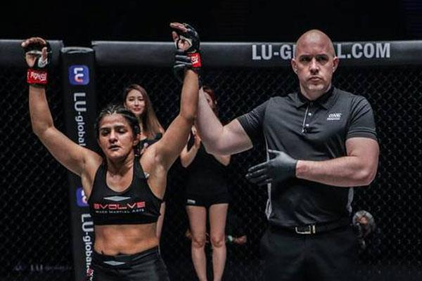 ritu phogt won the second championship in the one championship