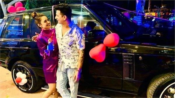 prince narula gifted range rover car to yuvika chaudhary