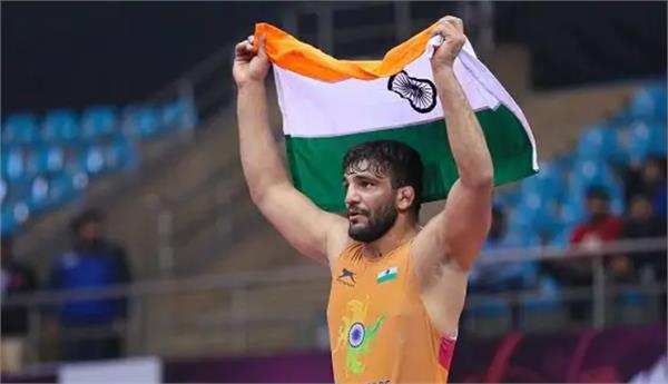 indias sunil kumar wins gold medal in asian wrestling championship 2020
