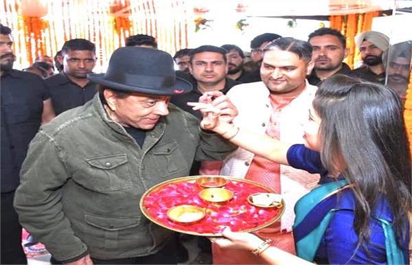 dharmendra he man restaurant launch