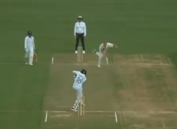 mayank played kapil dev famous natraj shot during practice match