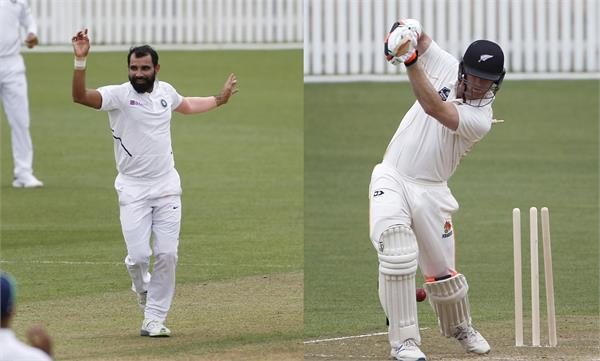 shami bumrah and umesh shine as india takes lead nz xi practice match