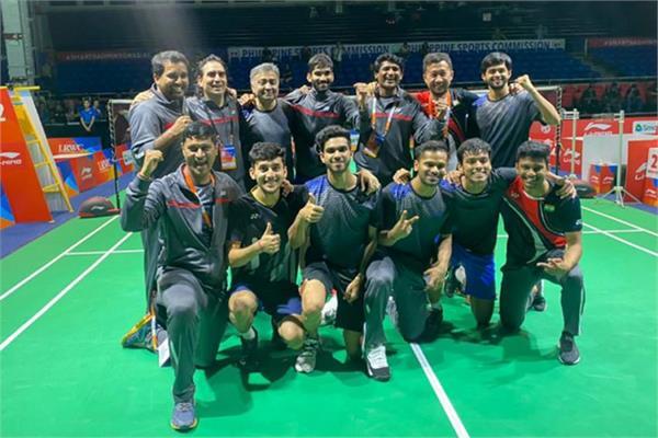 indian beat thailand to enter badminton asia team championships semi final