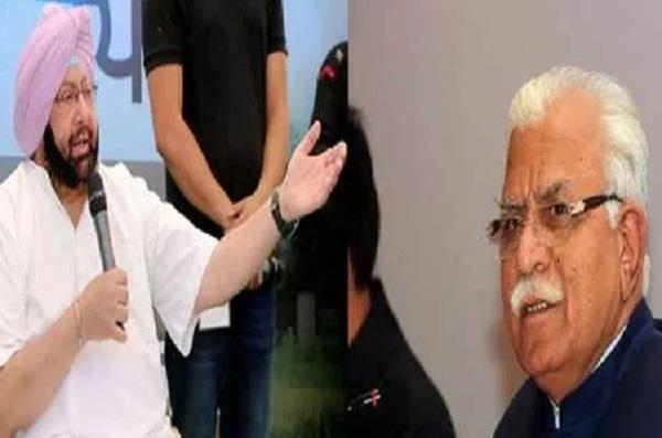 cm manohar lal khattar statement on syl water issue