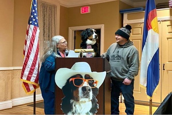 america  dog becomes mayor