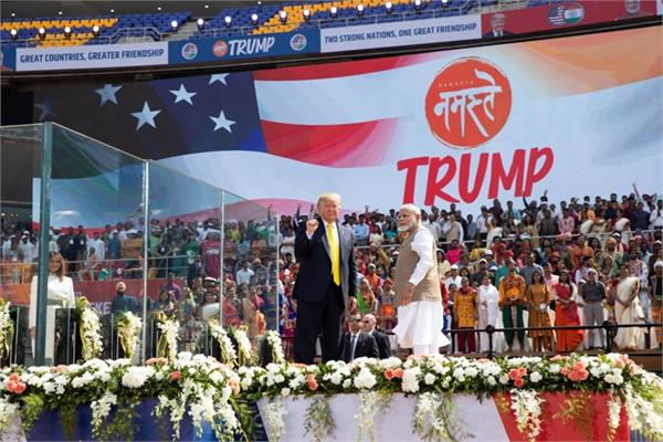 pakistan terrorism donald trump motera stadium