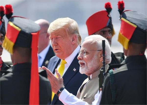 trump  s visit to india security increased in kashmir
