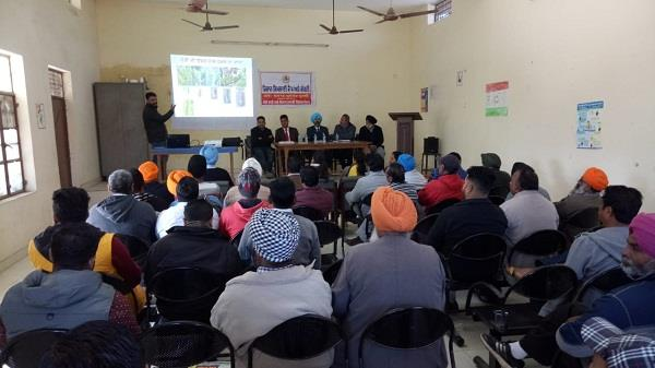camp by agriculture department to awareness among farmers