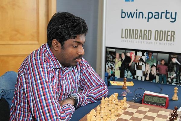 b adhiban  chess tournament  draw