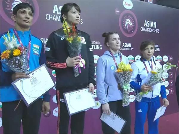 nirmala loses in the final of the asian wrestling championship