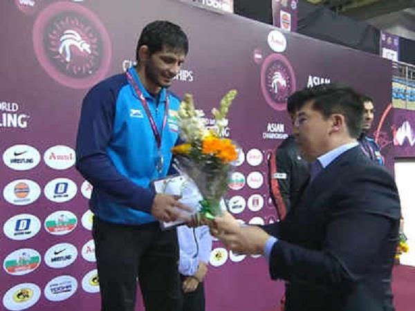 jitender gets silver medal in asian championship
