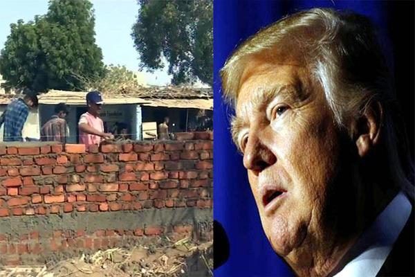 wall being constructed in ahmedabad before mexico for trump