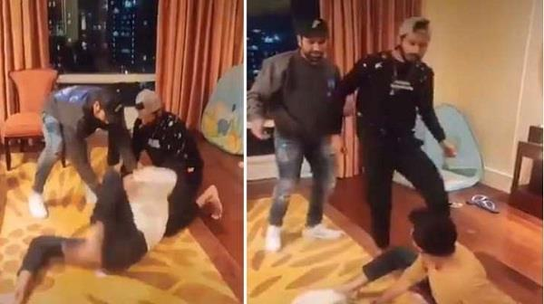 when khalil and rohit tease chahal with   kutapa    video goes viral