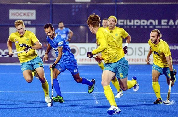 fih pro league  australia beat india 4 3