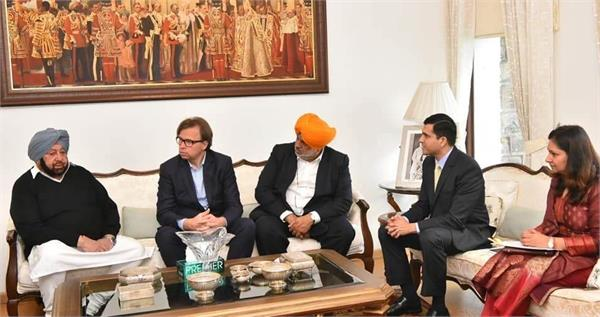 captain amarinder singh  industrial group of germany