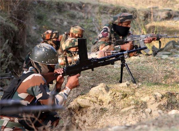 pakistan shot down in the town kirani sector