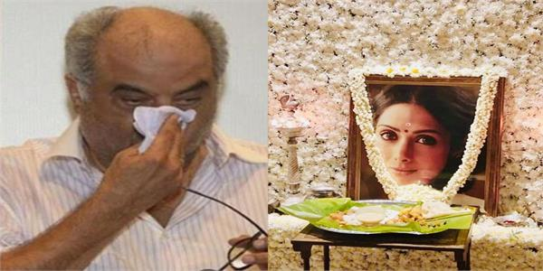 janhvi attends puja in memory of sridevi in chennai