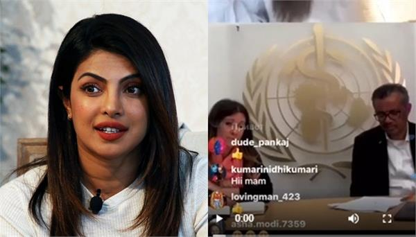 coronavirus priyanka chopra post video
