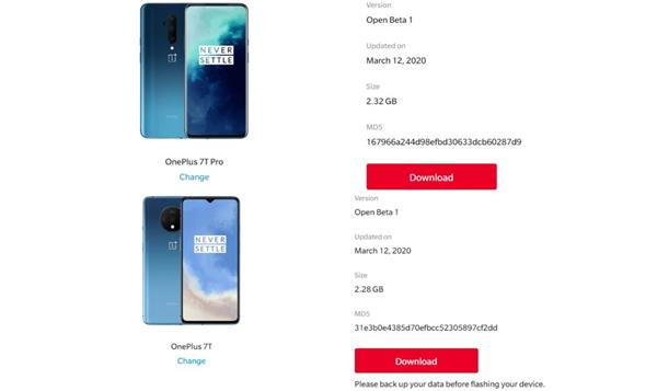oneplus 7t pro  oneplus 7t get first oxygenos open beta update